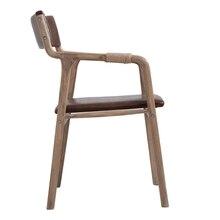 Твердой древесины цюйфу цвет орех ретро современный минималистский обеденный спинка кресла кресло кофе стул для отдыха книга стул, стол