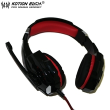 2PCS EACH G9000 3.5mm Game Gaming Headphone Headband Headset with Microphone LED Light for Laptop Computer without package