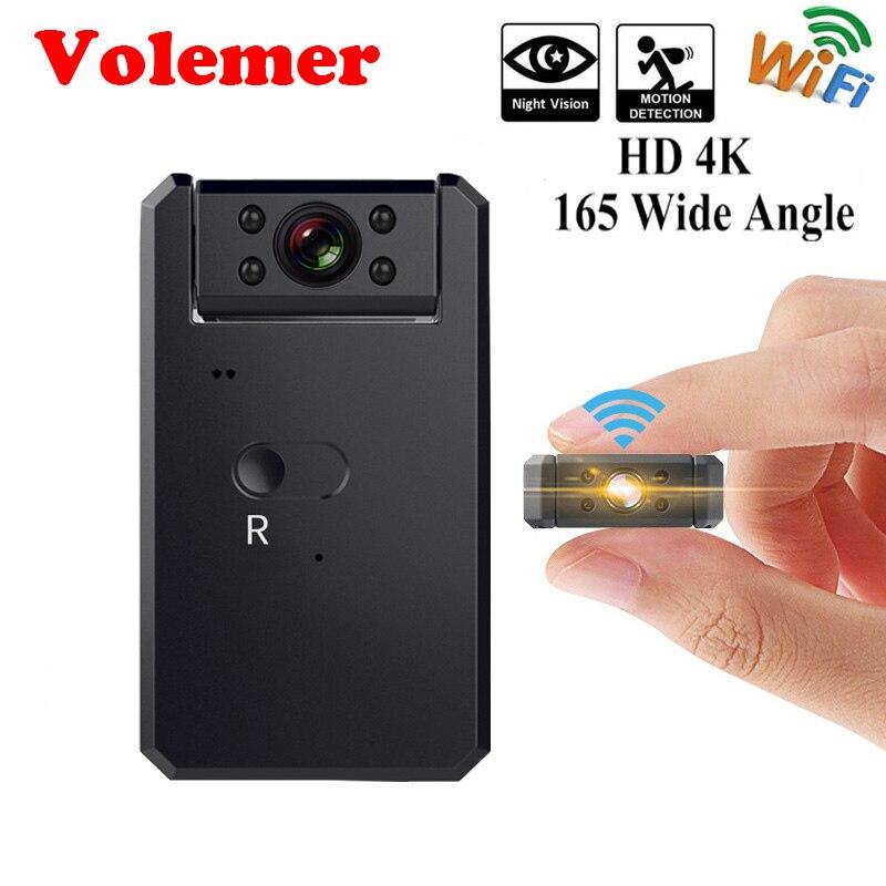 Volemer W26 HD 4 K Wifi À Distance Mini Caméra Night Vision Sécurité Caméscope Détection de Mouvement Micro Caméra Baby Safe Mini Kamera