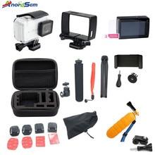 Anordsem for Xiaomi yi 4k Accessories Set for Xiaomi Yi Lite xiaomi yi 4k plus yi Case Monopod Tripod 30M Waterproof Case Mount