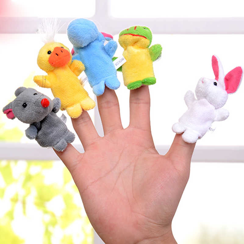 1pcs small animals finger dolls toys puppets cute small animal finger doll double fabric smooth thread puppets