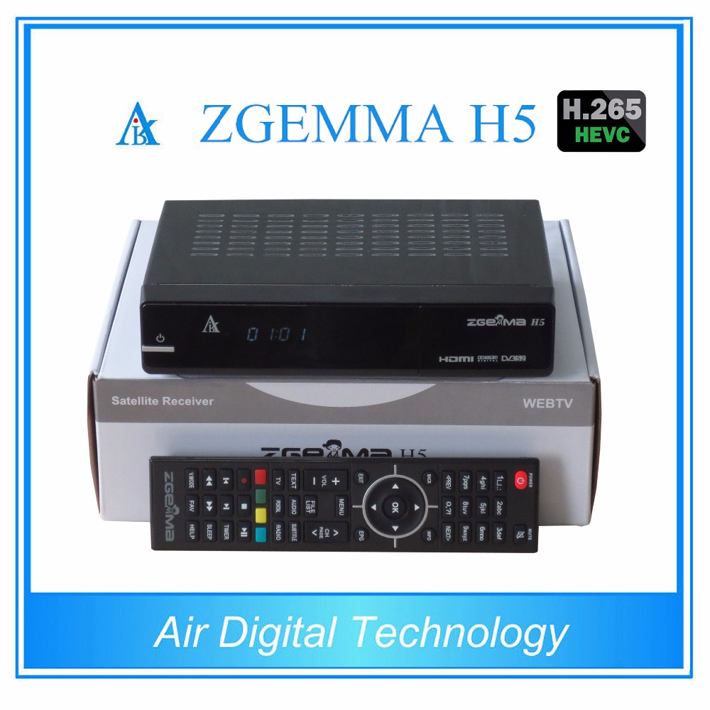 5 pcs/lot newest high cpu running satellite tv decoder combo DVB S2 + DVB T2/C support HEVC/H.265 ZGEMMA H5 цены онлайн