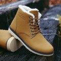 2016 ZIMNIE men Super Quentes de Inverno Ankle Boots De Couro Pu Homens Outono Botas Lazer Martin Botas Outono Botas de Neve À Prova D' Água sapatos Homens