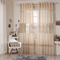 Speical High Grade Embroidery Leaves Sheer Curtain Tulle Blinds Voile Curtain For Living Room Free Shipping
