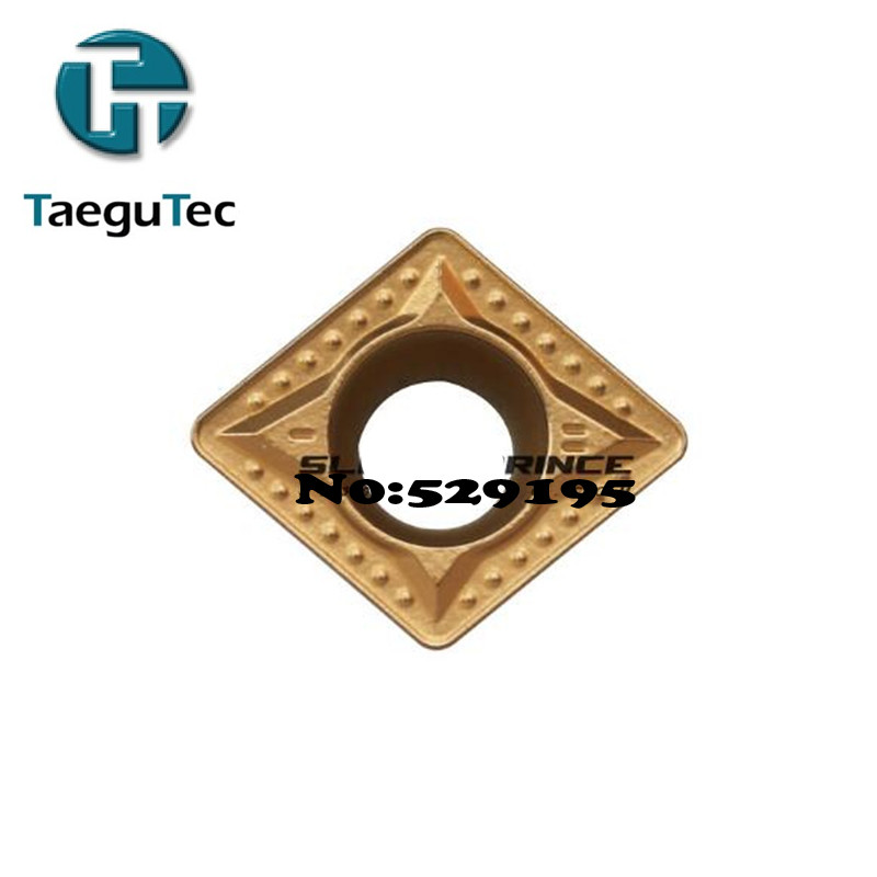 Original TaeguTec CCMT120404-MT TT8115 TT8125 CCMT120408 MT TT8115 TT8125 CCMT 120408 10pcs CNC Lathe Cutter Carbide Inserts
