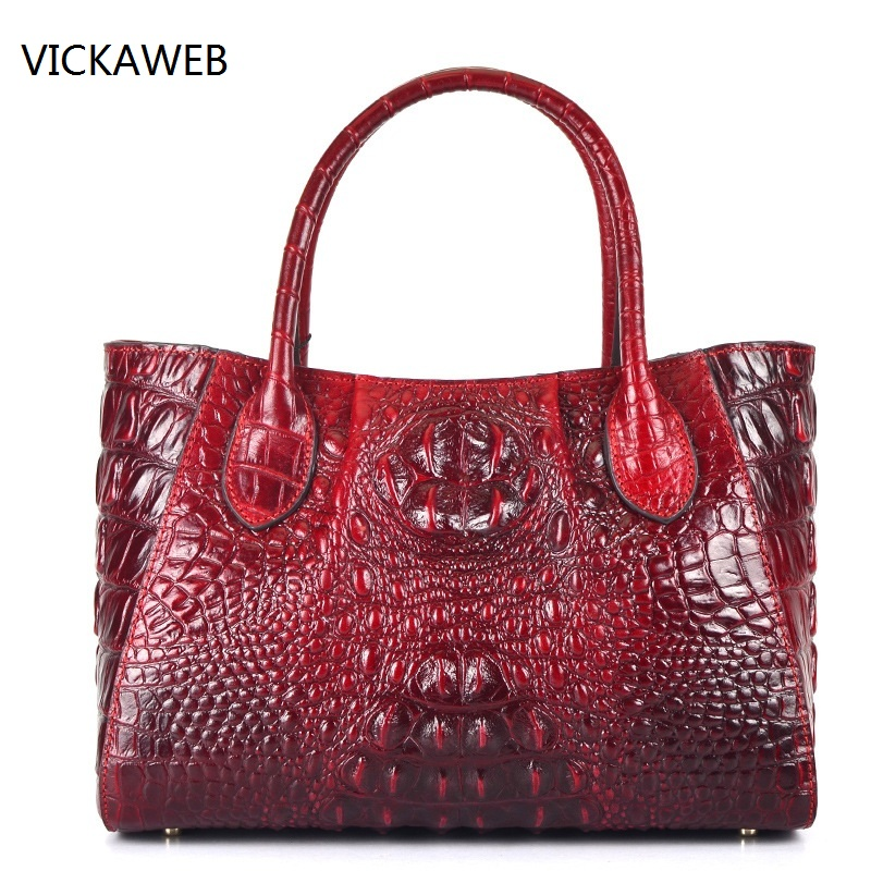 new high quality women leather handbags embossed crocodile pattern women handbag famous designer vintage tote bag yuanyu new 2017 hot new free shipping crocodile leather women handbag high end emale bag wipe the gold
