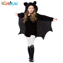 Halloween costumes children girls bats cosplay dance party holiday annual meeting Purim