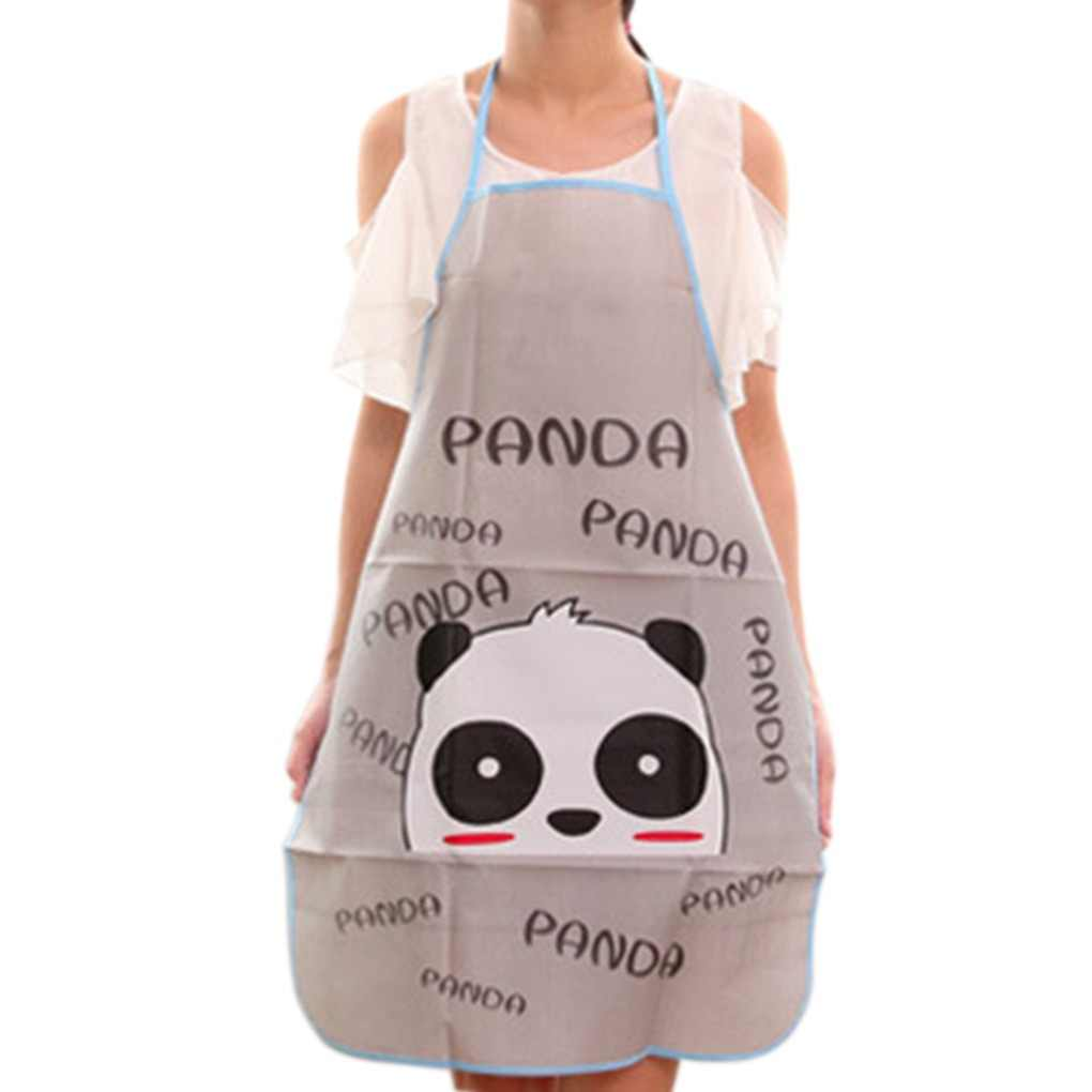 PVC Waterproof Apron Hot Cartoon animal Kitchen Restaurant Cooking Bib Aprons