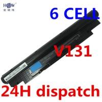 11 1V 5200MAH Laptop Battery For DELL Vostro V131 V131R V131D Inspiron 13Z N311z 14Z N411z