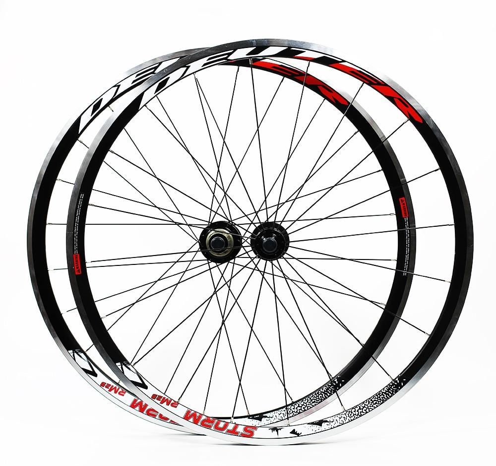 HEIßER Verkauf 700C Legierung Räder Cosmic Road Fahrrad Bike Rad V Bremse Aluminium Laufradsatz Fahrrad Räder Felgen letzten 1 paar fahrrad