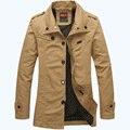 Бесплатная доставка 2017 AFS JEEP Весной и Осенью новый бренд мужской куртки мужские мужчин среднего возраста отмытых хлопковых куртка 125