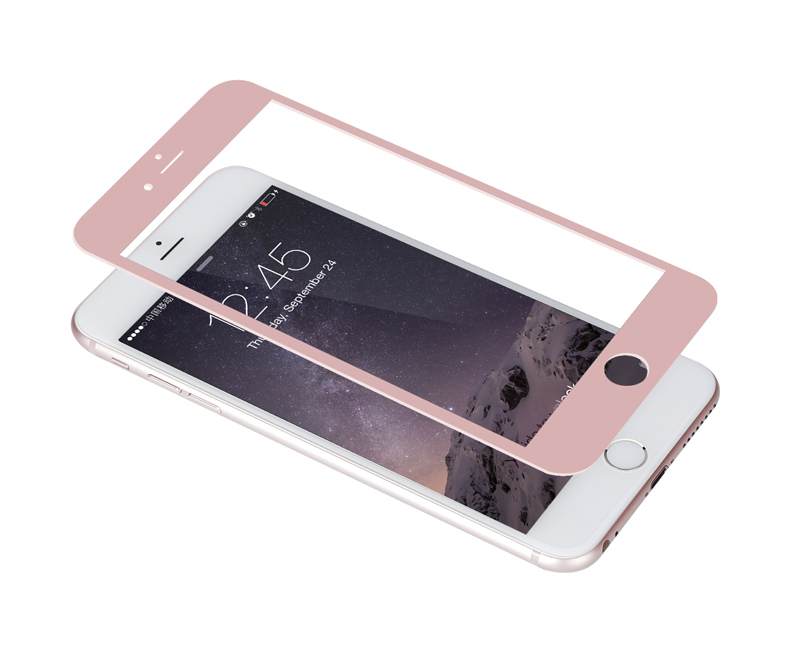 Online Shop Original Rock Full Screen Anti Explosion Tempered Glass Film Cover For Iphone 6 6S Plus 55inch Rose Gold Blackwhite