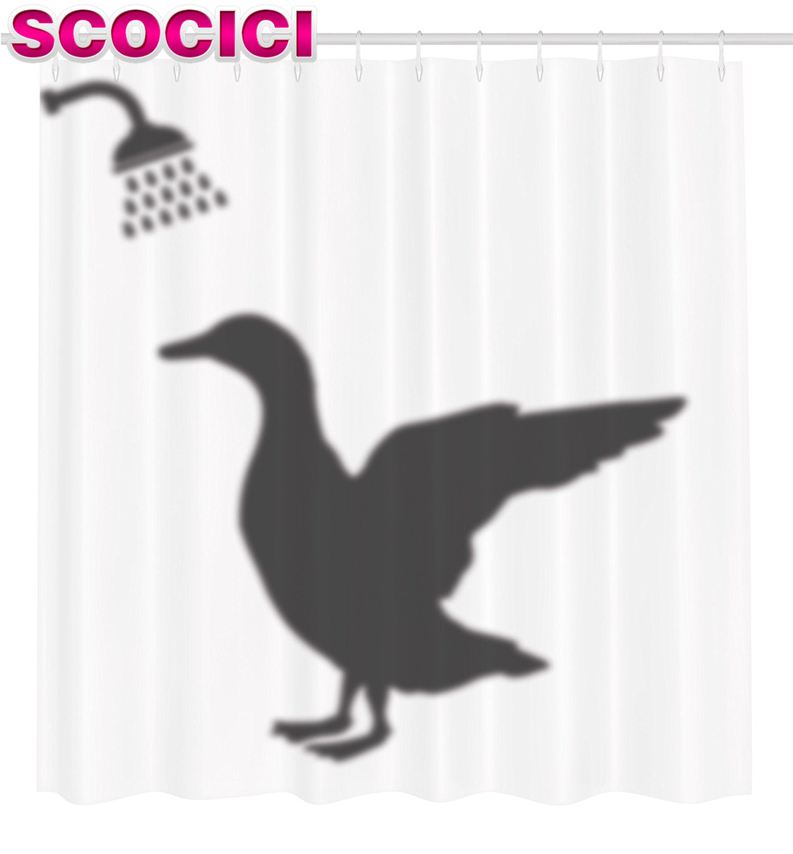 Mallard duck shower curtain - Duck Fabric Shower Curtain Part 40 Duck Shower Curtain Funny Decor Collection Shadow Of