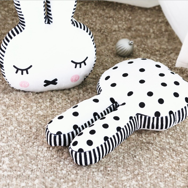 Nordic Style Cute soft Rabbit Plush Toy, Rabbit Dolls Childrens Room Decoration Gift, Baby Bedroom Decoration