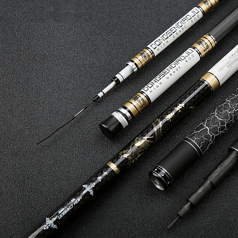 hight fibra de carbono 3 6 m 8 1 m taiwan vara de pesca telescopica polo