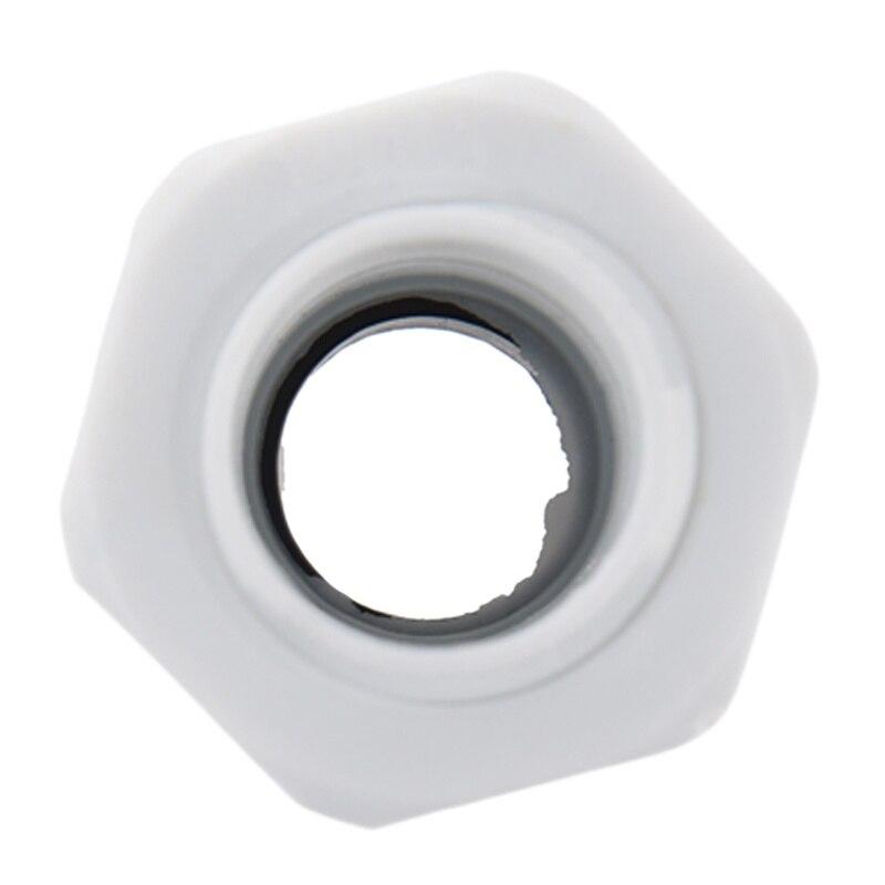 Новинка 8 шт. водонепроницаемый разъем пластиковый белый кабельный сальник замок гайка M20* 1,5