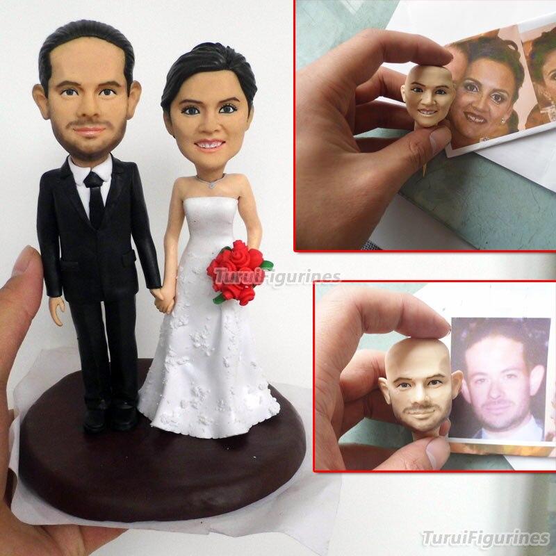 41 ooak кукла из полимерной глины на заказ Свадебный Подарок на годовщину на заказ Забавный свадебный торт Топпер Свадебная Статуэтка скульпт