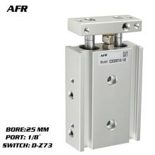 купить SMC Type Dual Rod Cylinder Basic TYPE double cylinder / double shaft cylinder CXSM25-10 CXSM25-15 CXSM25-20 -Z73 -Y59A дешево