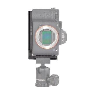 Image 4 - אוניברסלי שחרור מהיר L צלחת סוגר 1/4 בורג עבור sony a7iii השני A9 A6400 עבור ניקון z7 D750 עבור Canon 5D Eos R DSLR מצלמה