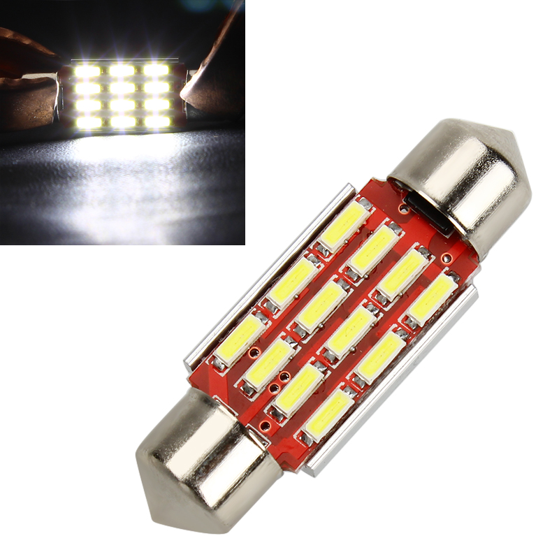 Car Styling Festoon 36mm Dome Lamp 4014 SMD DC12-24V Universal Canbus Reading Door Licence Signal Light LED Light Bulb for Auto