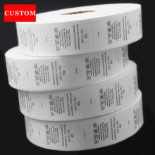 factory customized made garment washing label ribbon clothing printed private label branding custom private label clothing private wants