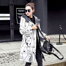 New winter woman winter jackets 2016 casual with hood long sleeve zipper cotton padded coat ladies