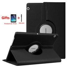 360 Вращающийся чехол для huawei MediaPad T3 10 AGS-W09 AGS-L09 AGS-L03 Tablet принципиально чехол для Honor игровой коврик 2 9,6 дюйма + пленка + стилус