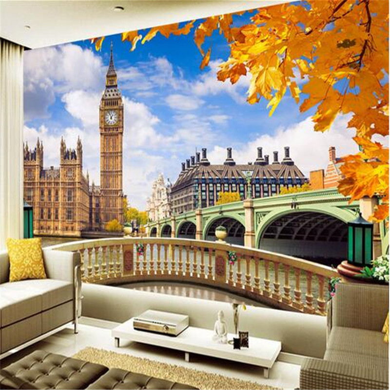 custom 3d photo mural wallpaper big ben non-woven fabric tv background wall painting 3d murals wallpaper for living room custom modern 3d photo high quality non woven wallpaper wall murals 3d wallpaper tv sofa background wallpaper for living room