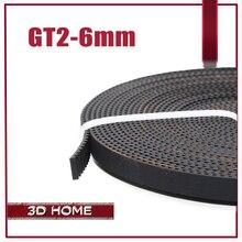 Горячая продажа! 10 meter Gt2-6мм Открытым Ремень Грм Ширина 6 мм GT2 Пояс для 3d-принтер