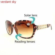 De alta qualidade da moda óculos de leitura presbiopia marca multi  distância óculos homens e mulheres óculos de sol óculos hiper. 70257a2783