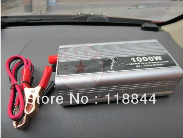 Prix pour Inverseur de voiture 1000 W DC 12 v à AC 220 v interrupteur de véhicule électrique à bord chargeur de voiture onduleur Livraison gratuite
