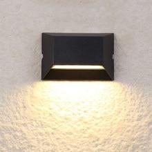 Indoor/Ourdoor 6W LED Wall Sconce Light Fixture Waterproof Lamp Cottage Walkway Gate Black shell