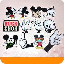 1 PCS Mickey Minnie hands Accessories Kawaii Anime Cartoon Badges Acrylic Pins Brooch Backpack Bags Decorative Birthday Gift(China)