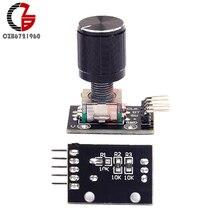 KY-040 переключатель потенциометра 360 градусов Поворотный датчик датчика Swith с макетной платой алюминиевый сплав булавки-крышки для Arduino