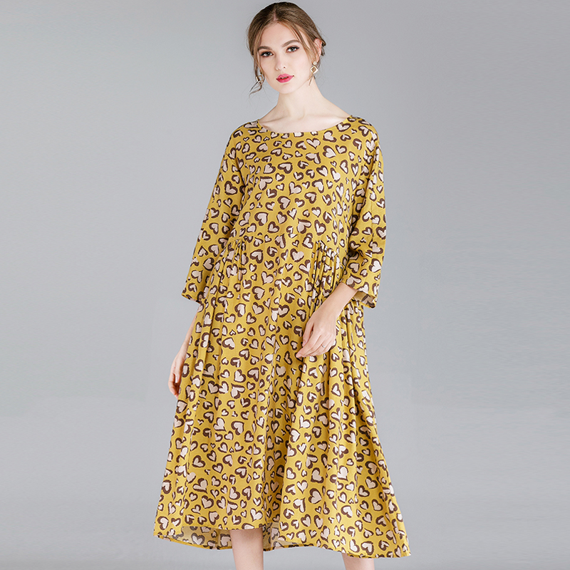 50052a2f983 Buy yellow leopard print dress and get free shipping on AliExpress.com