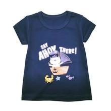 New Childrens Tops Clothes Boys Cotton T-Shirt Short Sleeve Summer Beach