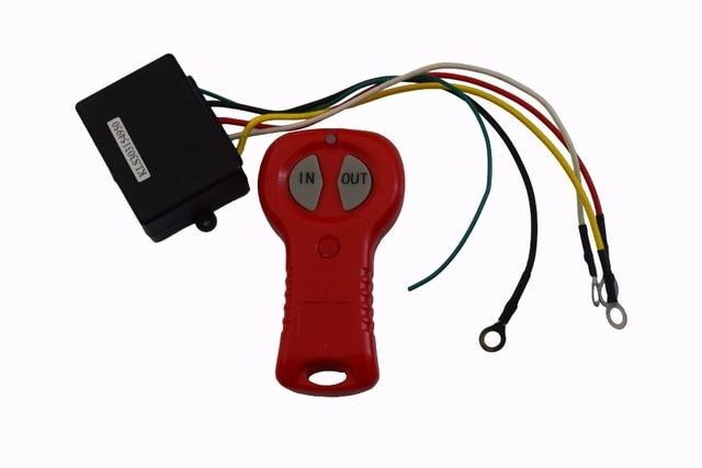 Cabrestante eléctrico inalámbrico, Control remoto y receptor, 12V, para coche, camión, ATV, vehículo