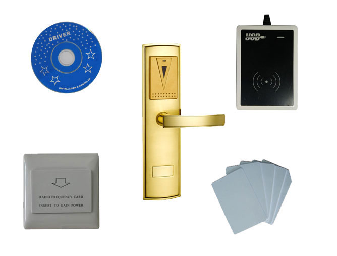 T57 hotel lock system, include T57 hotel lock, usb hotel encoder ,energy saving switch,T57 card , sn:CA 8025 kit