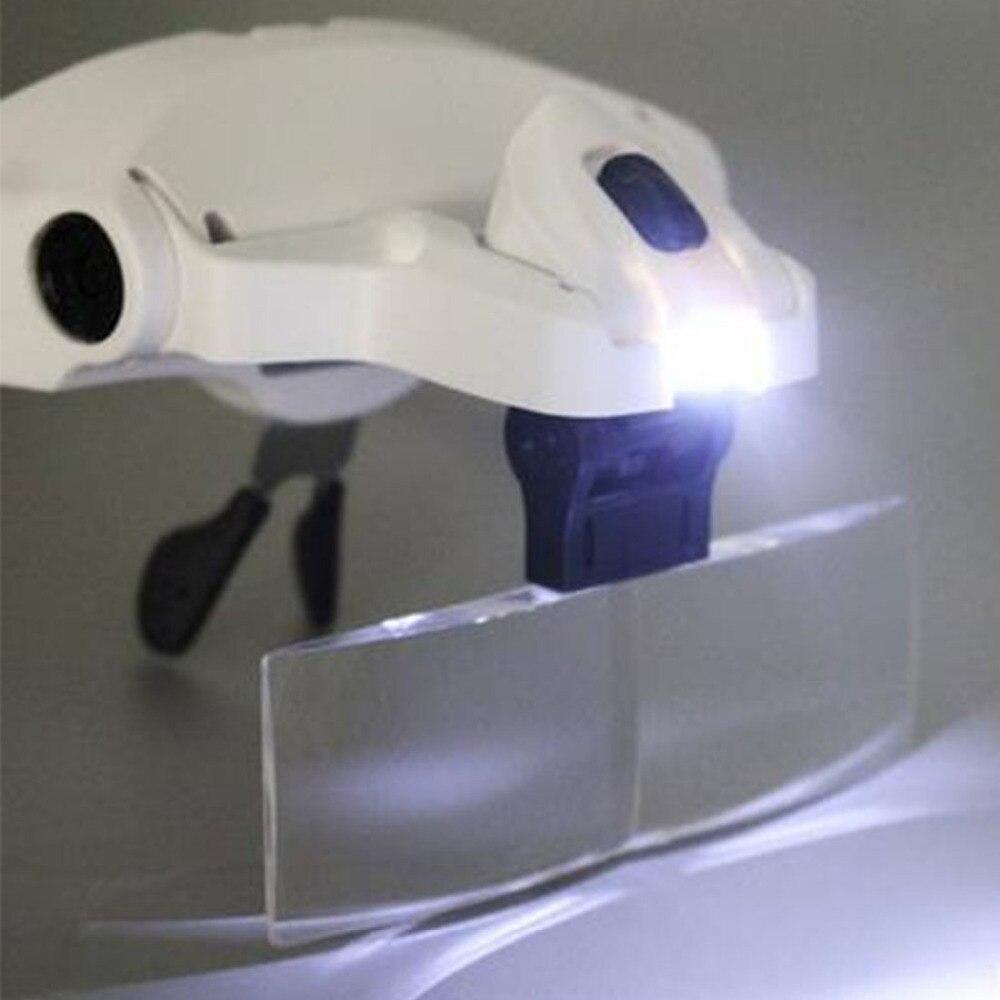 Einstellbare Lupe 1,0X1,5X2,0X2,5X3,5X5 Objektiv Stirnband Lupe Lupe mit LED Lupen Kreative