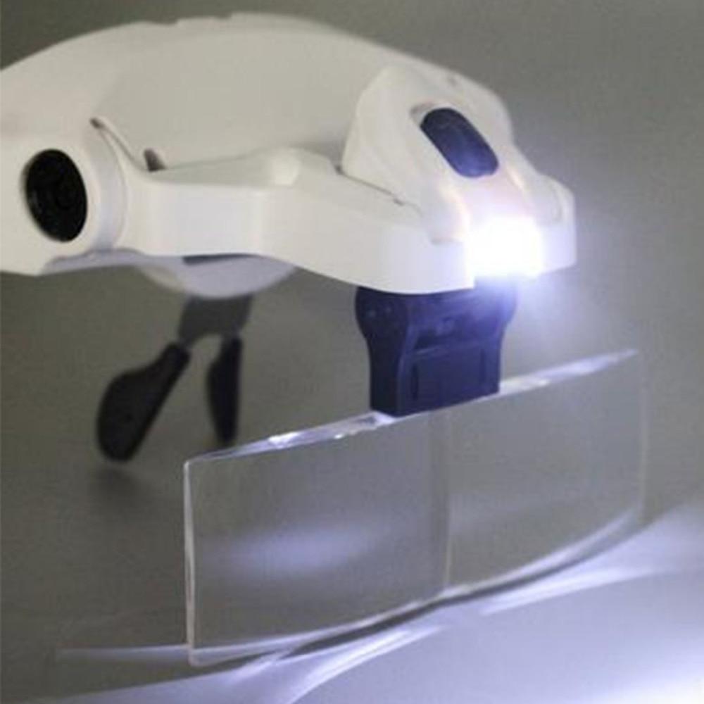 Lupa ajustable 1,0X1,5X3,5X2,5X2,0X5 lente diadema lupa con lupa LED creativa