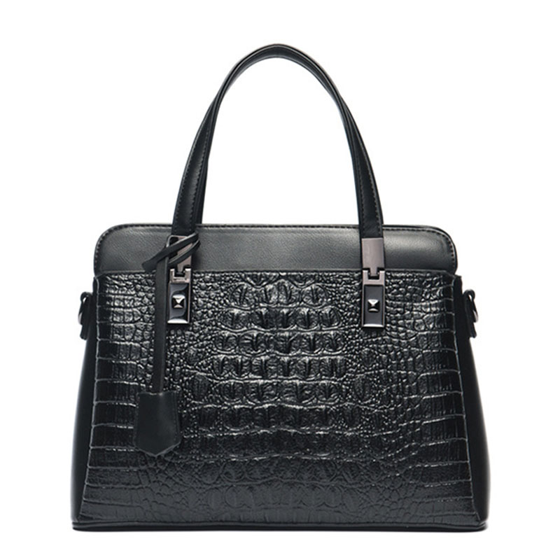 New Fashion Women Handbag Women's Handbags Famous Brands Female Shoulder Bag Crocodile Pattern Handbag Lady High Quality Bags delin foreign female bag bag handbag shoulder aslant crocodile grain lady handbags package a undertakes the new trend
