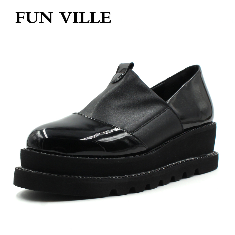 FUN VILLE 2018 New Style Women Flats Spring Summer Flat Platform Casual shoes Flock black Round toe Sexy Ladies shoes size 37-41 new 2015 fashion high quality lazy shoes women colorful flat shoes women s flats womens spring summer shoes size eu35 40wsh488
