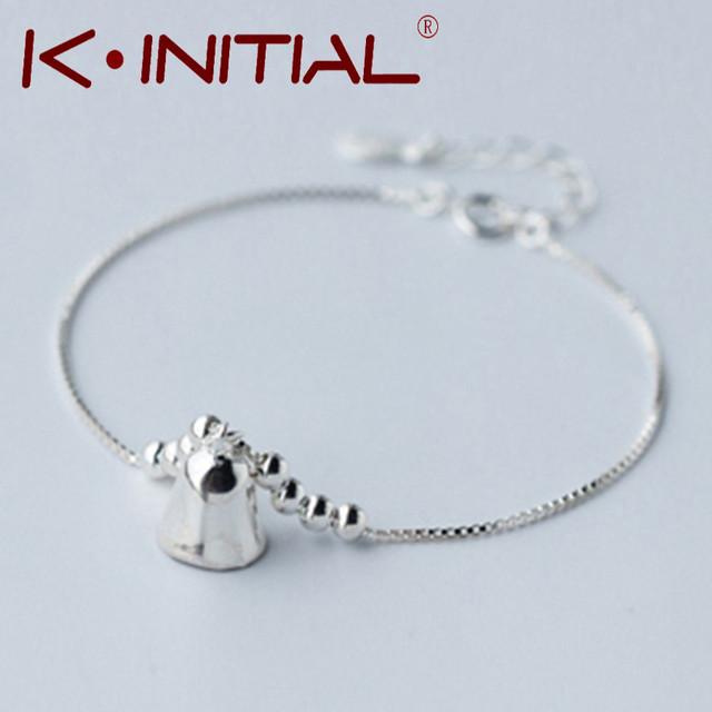 Kinitial 1Pcs New 925 Silver Bell Bracelet Bells   Hang Drop Box Chain Ball  Bracelets   Bangles Valentine s Day Gift Jewelry. Anniversary ... 44347ebed566