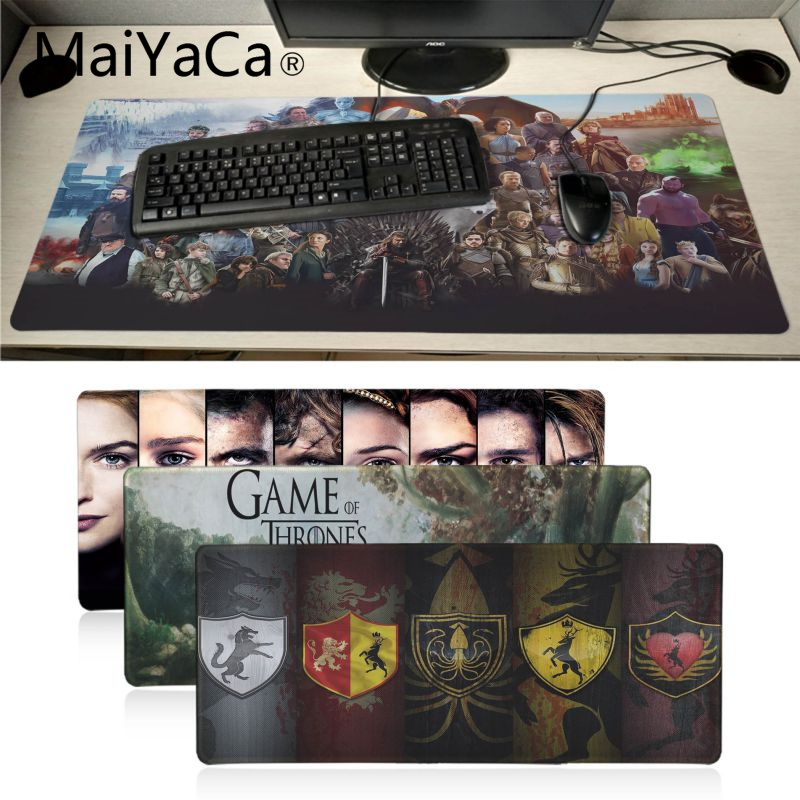 MaiYaCa Vintage Cool Game Of Thrones Mouse Pad Gamer Play Mats Large Gaming Mouse Pad Lockedge Mouse Mat Keyboard Pad