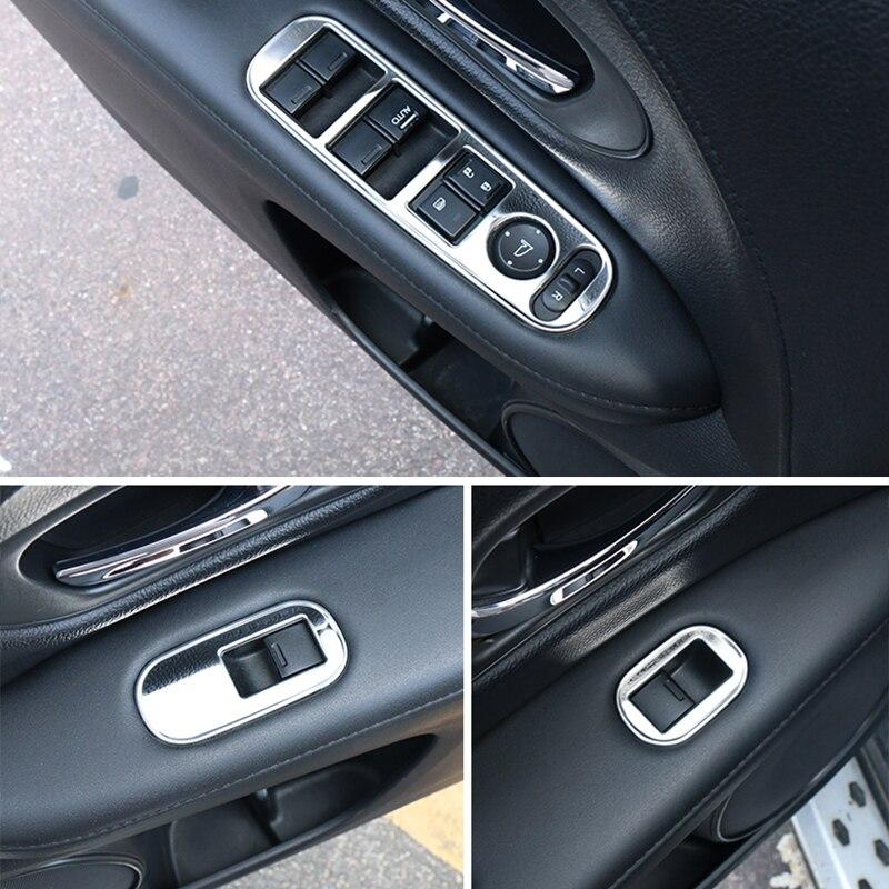 Для Honda hr v HR V Vezel 2014 2017 автомобиль из нержавеющей стали внутреннее окно лифтовая панель наклейки отделка Аксессуары 4 шт LHD