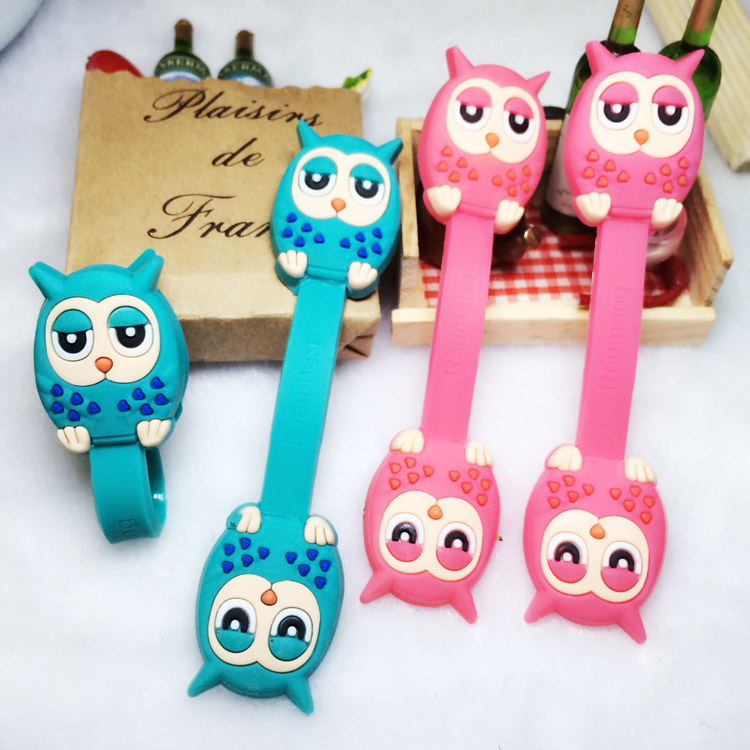 30pcs/lot Animal owl Cable Organizer Bobbin Winder Protector Wire ...
