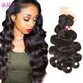 8a caliente brasileño onda del cuerpo 3 paquetes de belleza armadura del pelo humano brasileño del pelo productos queen hair bodywave brasileño de la virgen del pelo