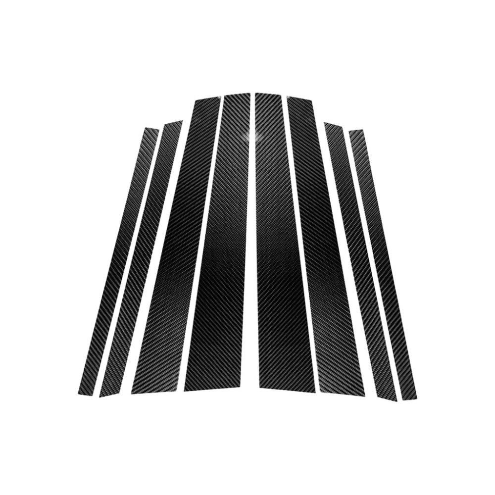 Image 2 - Carbon Fiber Window B pillar Molding Cover Trim For BMW 1 3 5 Series E90 E60 F30 F10 X5 X6 X1 X3 E70 E71 F15 F16 F07 F25 E46 E84-in Interior Mouldings from Automobiles & Motorcycles