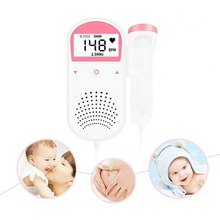 лучшая цена Pocket Fetal Doppler Baby Heart Beat Rate Monitor FHR LCD Probe Pregnancy Fetus Portable Ultrasound Baby