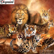 Dispaint Full Square/Round Drill 5D DIY Diamond Painting Animal tiger lion Embroidery Cross Stitch 3D Home Decor Gift A10870 dispaint full square round drill 5d diy diamond painting animal tiger sceneryembroidery cross stitch 3d home decor gift a11463